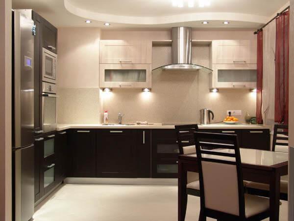 Какие кухни дизайн в частном доме часто используют?