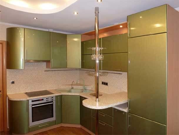 Кухни угловые с барной стойкой - идеальное решение для маленькой кухни