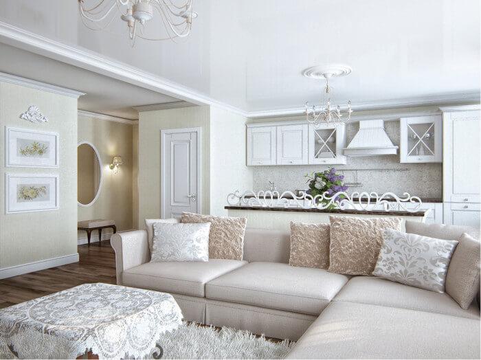 современный классический дизайн гостиной