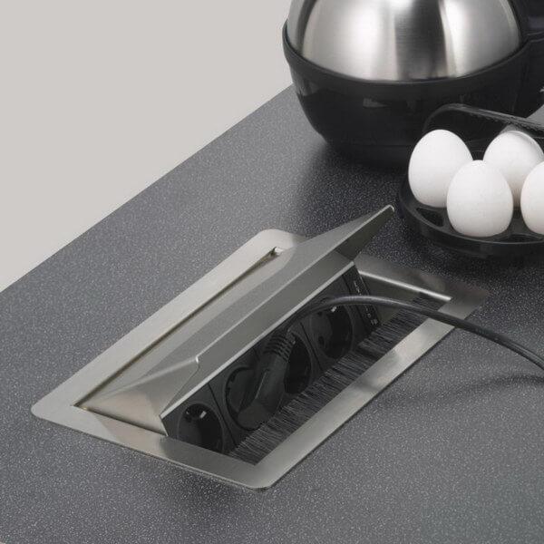 розетки для кухни в столешницу