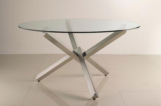 Круглые стеклянные столы для кухни очень изящны