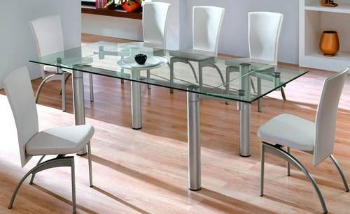Какие лучшие стеклянные раскладные столы для кухни?