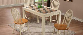 Кухонный стол с керамической плиткой - хороший выбор