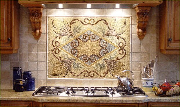 Выбор панно из плитки на кухню