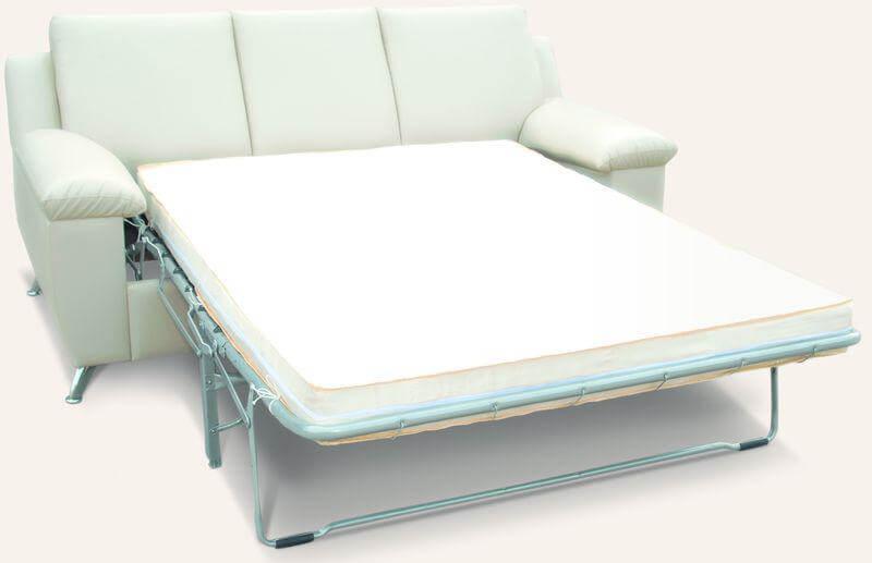 белый раскладной диван для кухни