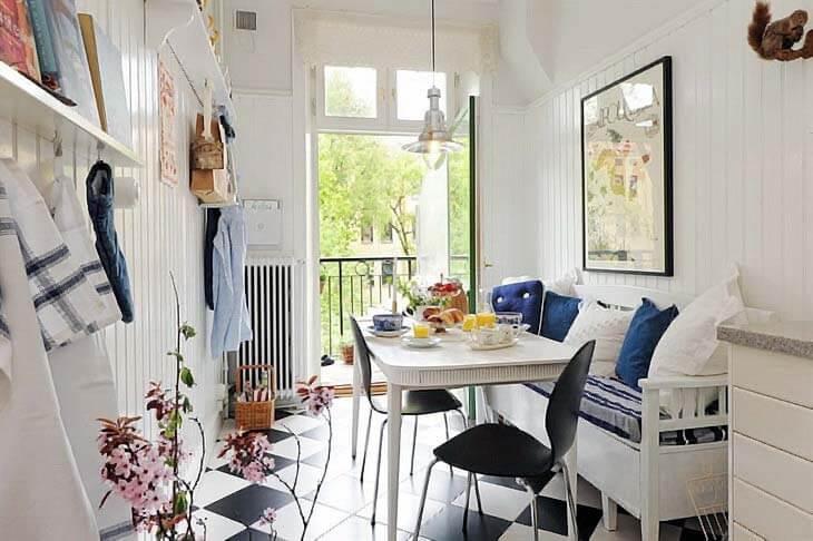 фото дизайна кухни с балконом