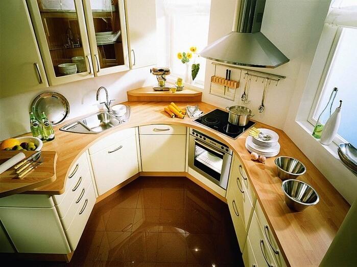 дизайн кухни маленькой площади