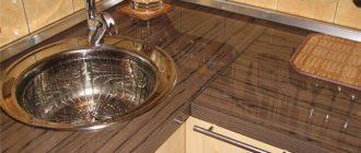 Выбор столешницы глянцевые для кухни