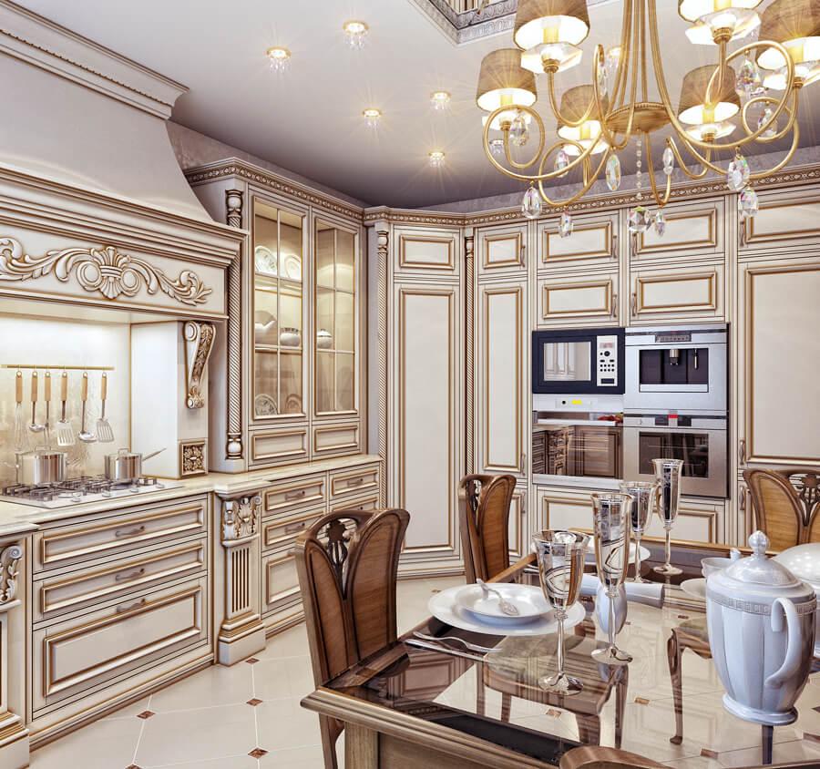 Хороший выбор - кухня в классическом стиле