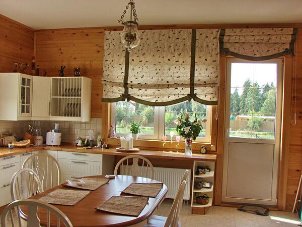 короткие кухонные шторы