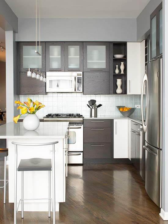 Сложный вопрос - маленькая кухня студия дизайн фото
