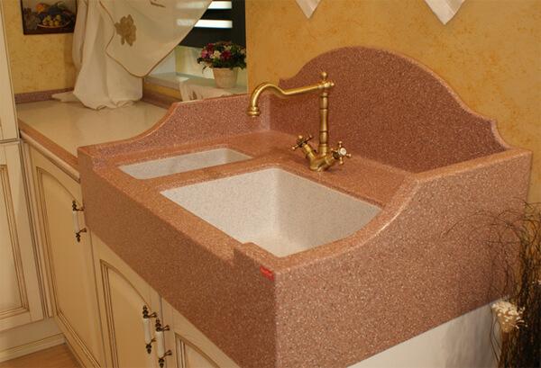 кухонная раковина из камня