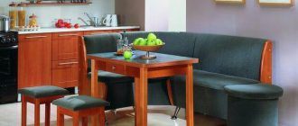 Угловой диван на кухню - хороший выбор