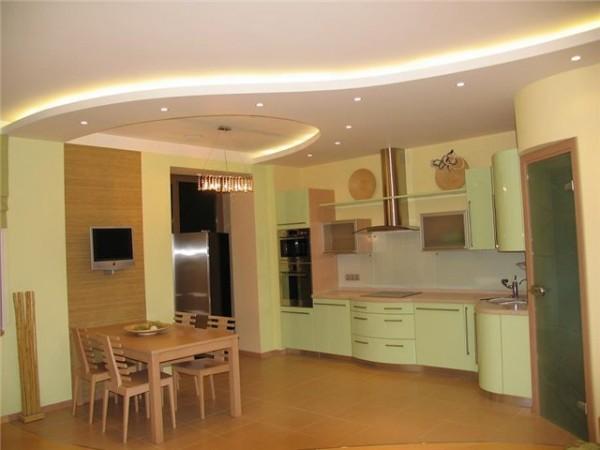 Подвесные потолки на кухню фото