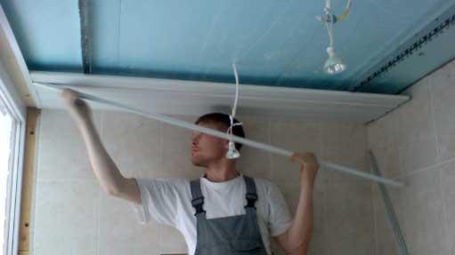 Реечный потолок на кухне возможно!