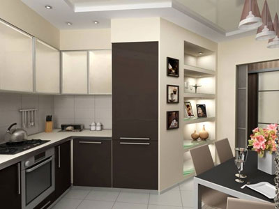 Возможное сочетание цветов в интерьере кухни