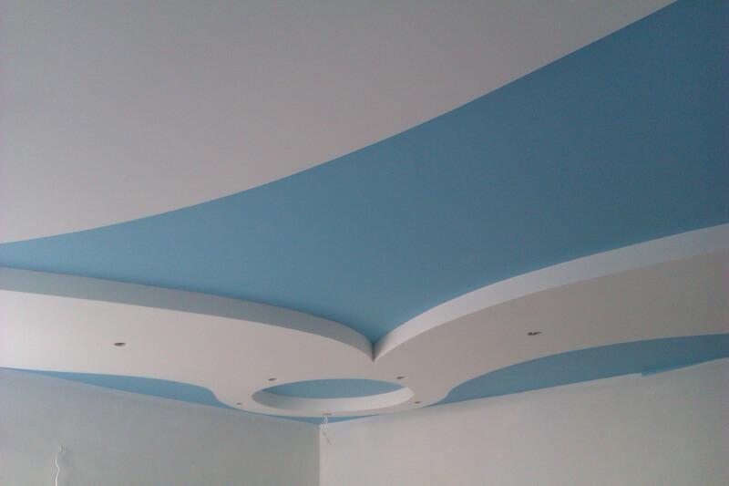 Отделка кухонного потолка