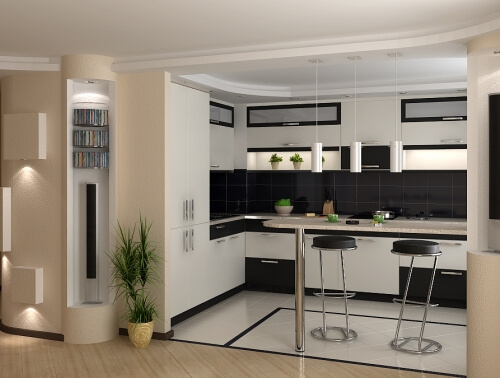 Ширина барной стойки на кухне