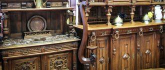 Антикварная деревянная мебель для кухни