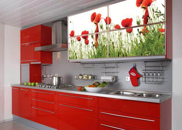 фото кухонных гарнитуров с фотопечатью