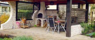Летняя кухня с барбекю проекты