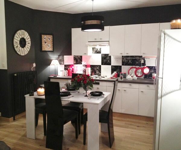 цвет стен на кухне черный