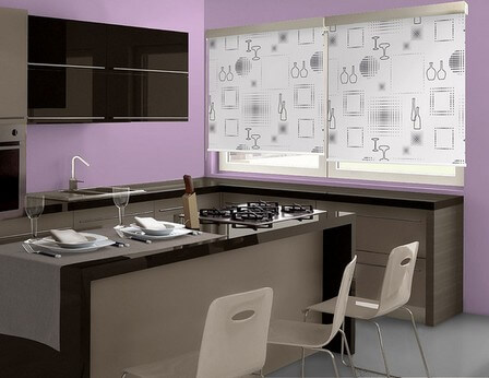 цвет стен на кухне фиолетовый