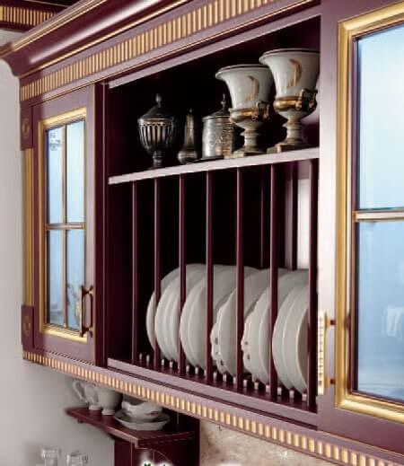 декоративные навесные шкафы для кухни