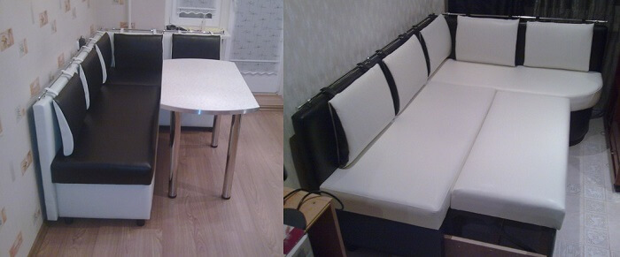 диван на кухню узкий
