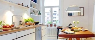 дизайн кухни 12 кв. м. в скандинавском стиле