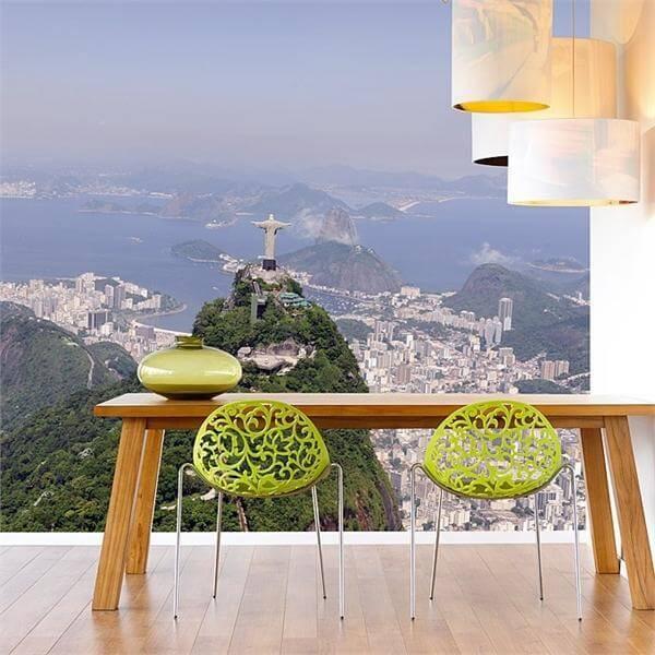фотообои 3Д для кухни бразилия