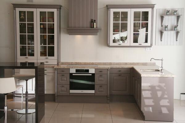 Кухня цвета лазурный фото