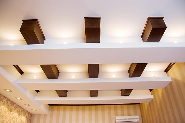 конструкция из гипсокартона потолок на кухне