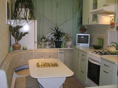kФото кухни площадью 9 квадратных метров