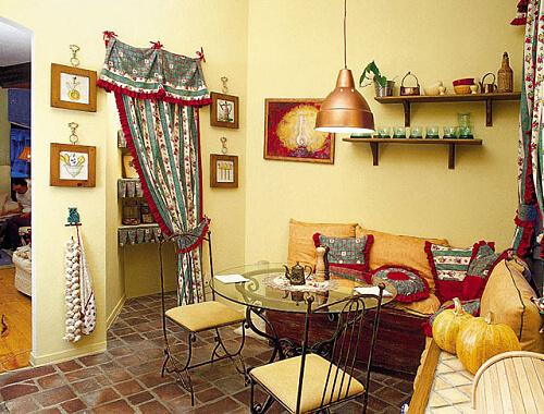 Стиль кантри на кухне. Фото.