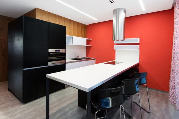 кухня 16 кв. м. фото