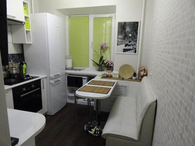 мебель для маленькой кухни расстановка