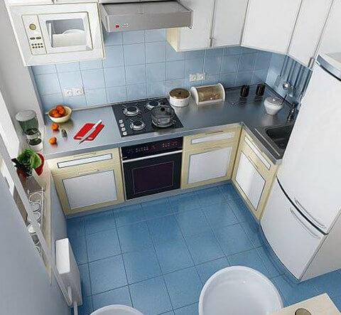 мебель в маленькой кухне расстановка