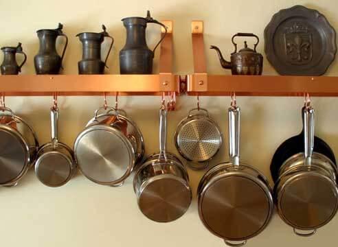 металлические полки на кухню
