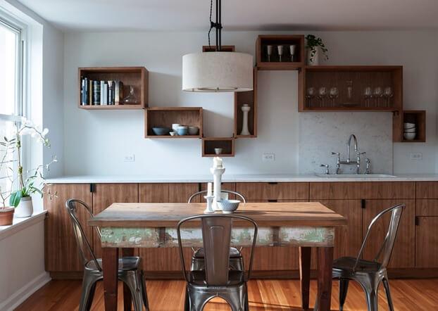 разные полки для кухонь