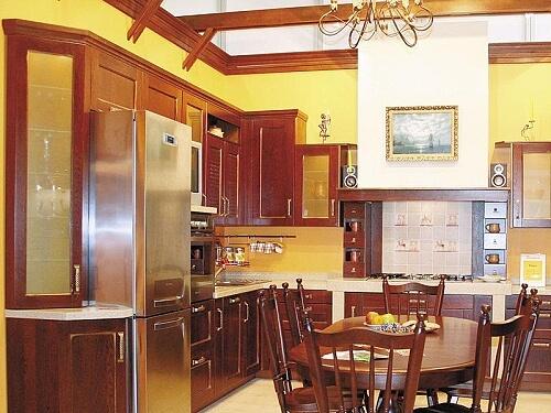 Стиль эклектика на кухне. Фото.