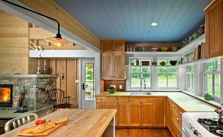 Реечный потолок фото кухни