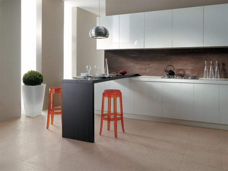 керамогранит пол кухня фото