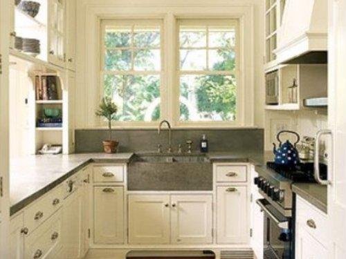 п-образная прямоугольная кухня