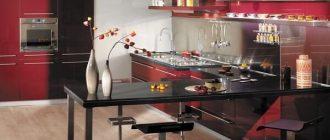фото кухня цвета бордо