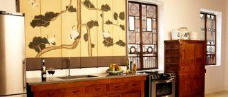 интерьер кухни в китайском стиле