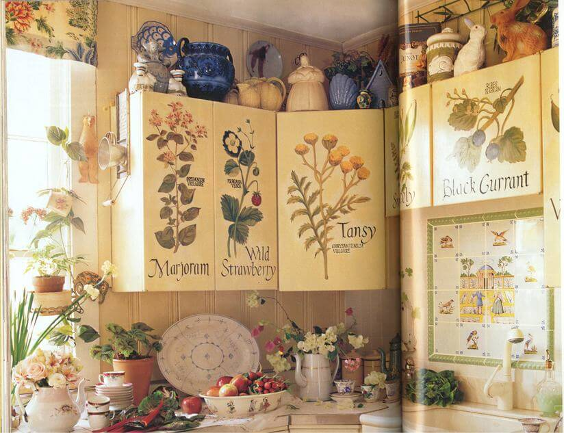 Декор своими руками кухонный шкаф