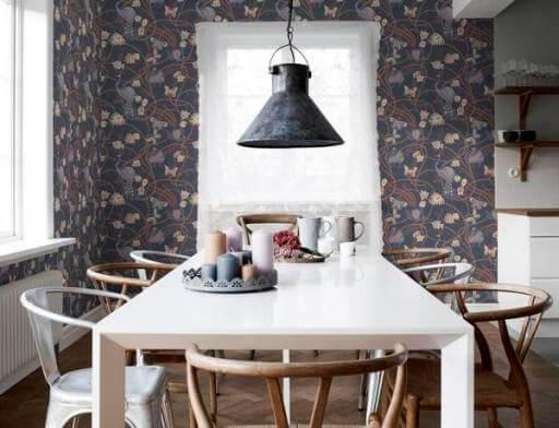 дизайн стен на кухне обои