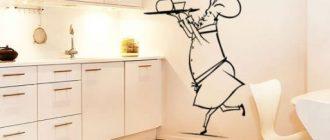 дизайн стен на кухне рисунок