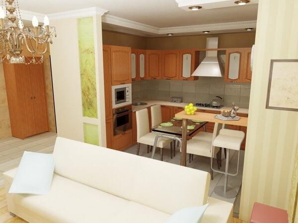 фото планировка кухни гостиной
